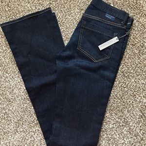 Goldsign dark blue bootcut jeans. NWT.